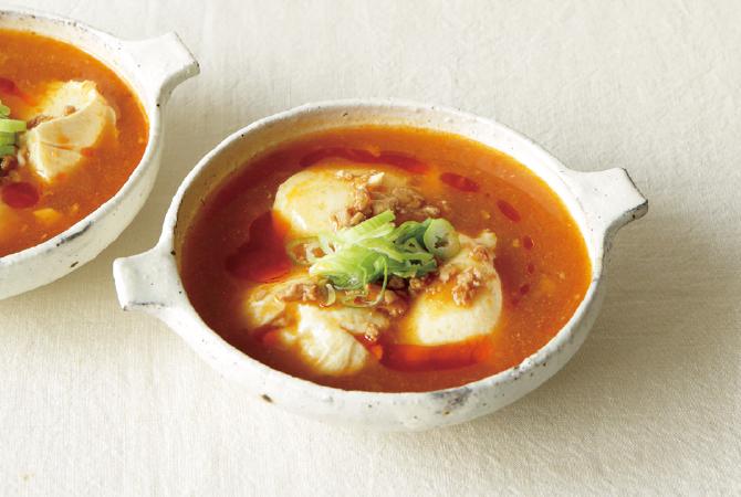 寄せ豆腐の麻婆スープ