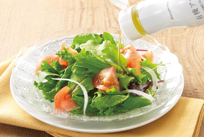 有機アマニ油使用例(サラダ)