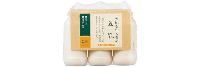 大地を守る会の豆乳(国産丸大豆)