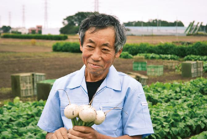 あやめ雪かぶ生産者、埼玉県志木市 三枝晃男さん