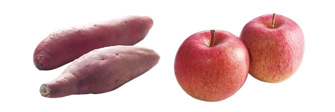 濃厚あま蜜さつまいも・紅はるか・400g&ふじ(りんご)・450g