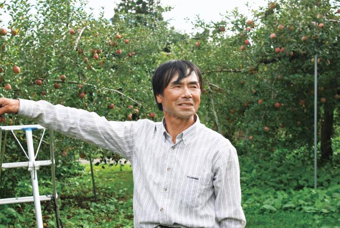 ふじ(りんご)生産者、山形県高畠市おきたま興農舎 尾箸庄造さん