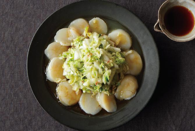 白菜とホタテの中華風カルパッチョ