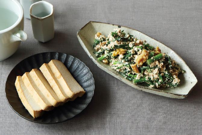 豆腐の味噌漬けと白和え