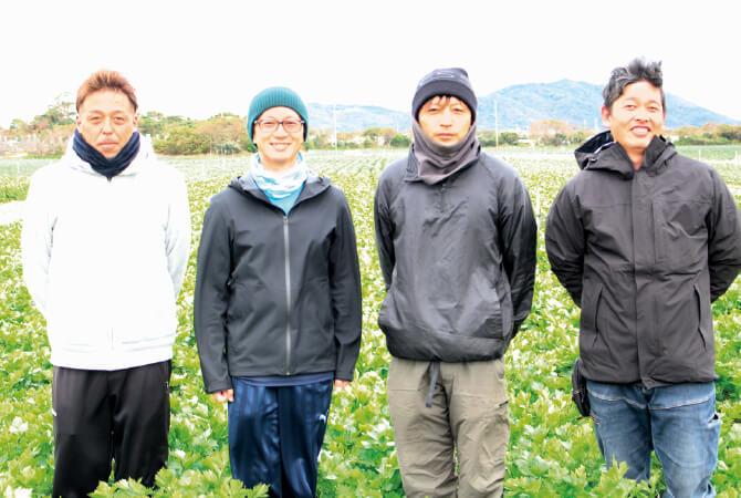 グリーンセロリ 生産者、愛知県田原市の天恵グループの皆さん