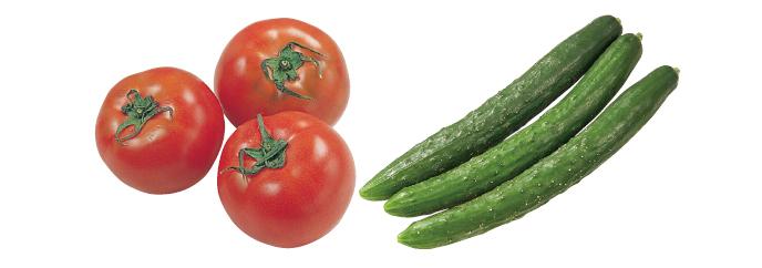 水切り栽培のうま夏トマト・400g &おしろいきゅうり・300g