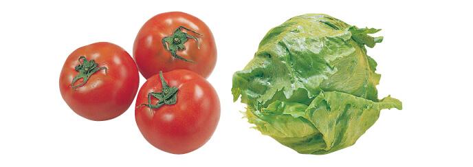 水切り栽培のうま夏トマト・400g &レタス・1コ