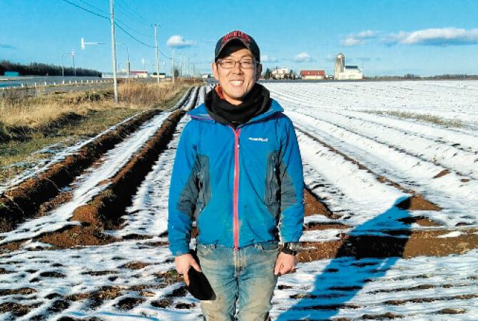 北海道・十勝のサクッと長いも生産者、北海道帯広市 大牧農場 道下洋太さん