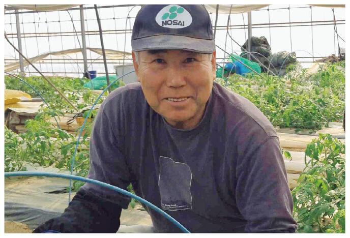 水切り栽培のうま夏トマト生産者、福島県玉川村 福島わかば会 高林邦男さん