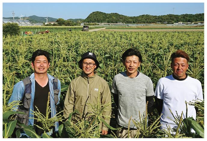 とうもろこし生産者、愛知県田原市 天恵グループの皆さん