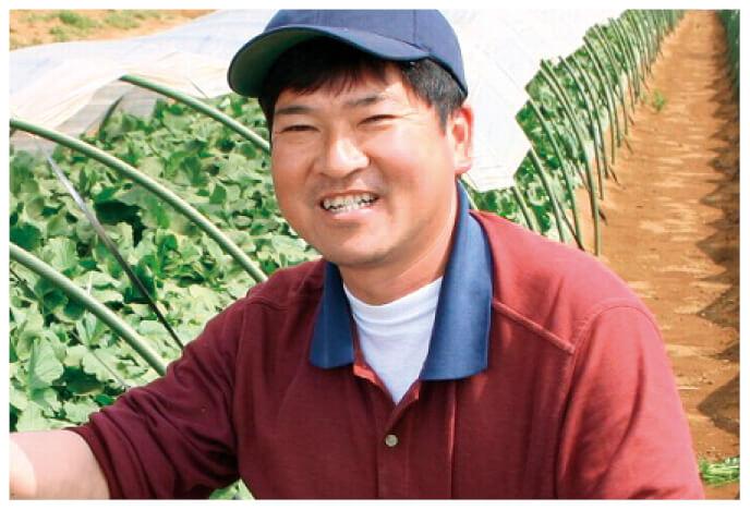 ズッキーニ生産者、千葉県山武市 さんぶ野菜ネットワーク吉田邦雄さん