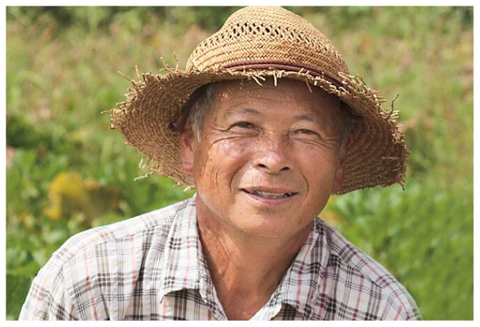 ズッキーニの生産者、群馬県高崎市くらぶち草の会 佐藤朝昭さん