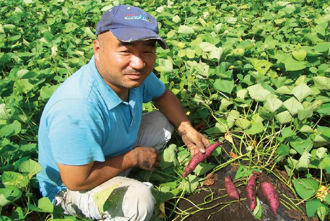 さつまいもの生産者、鹿児島県志布志市かごしま有機生産組合薗田真さん