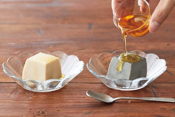 豆乳と本葛で作ったなめらか胡麻豆腐 イメージ写真