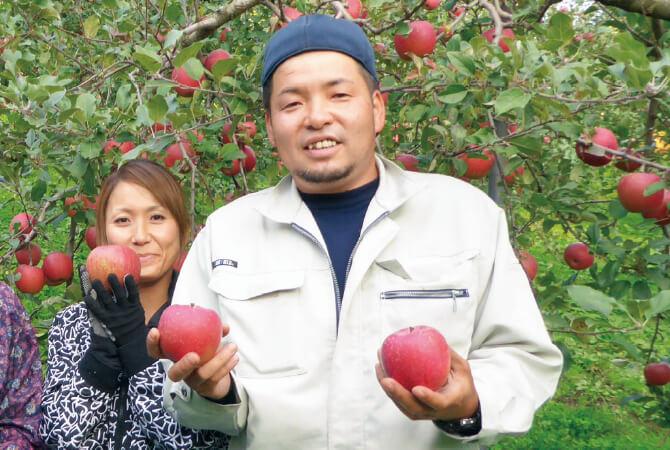 つがる(早生りんご)生産者、青森県黒石市 新農業研究会 山形 裕介さん