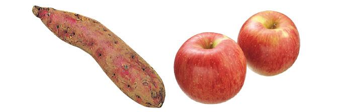 ほくほくさつまいも・紅あずま・400g&つがる(早生りんご)・450g
