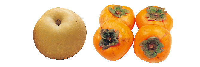甘さしたたる南水(梨)・400g&種なし柿(刀根柿または平核無柿)・600g
