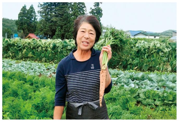 大曲の一尺人参生産者、秋田県大仙市 大曲有機農業生産組合 佐々木 美和子さん