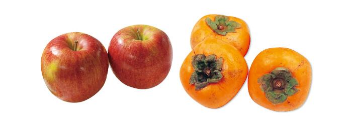 原さんのりんご(シナノスイート)・700g&種なし柿(刀根柿または平核無柿)・600g