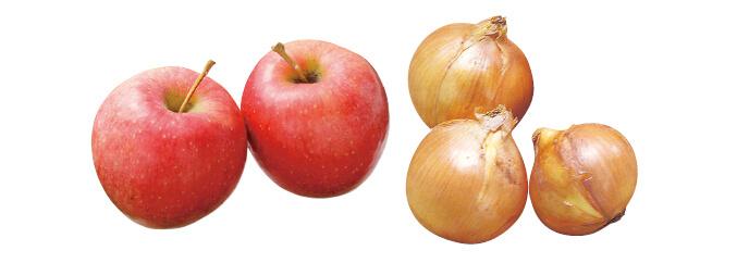 清明(りんご)・450g&北海道・大作さんの玉ねぎ(札幌黄)・500g