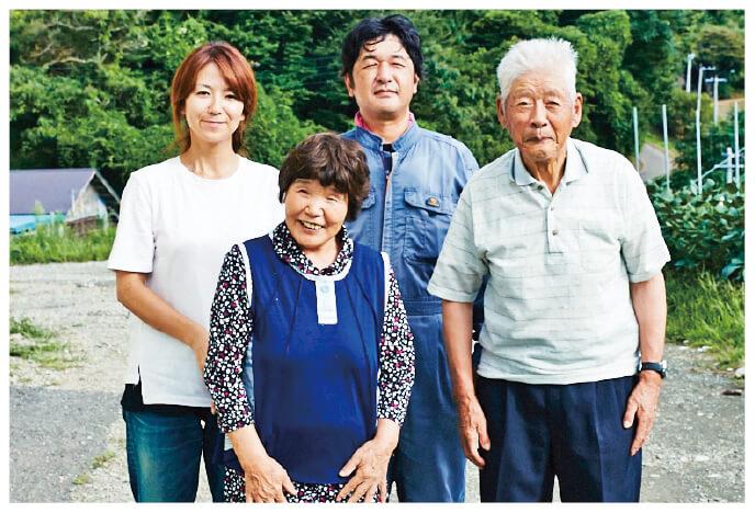 清明(りんご)生産者、福島県二本松市 羽山園芸組合 武藤 喜幸さんとご家族