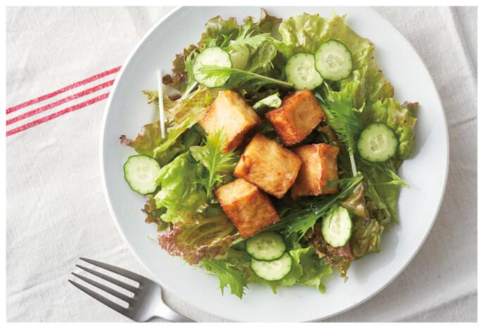 「豆腐のからあげ」サラダ イメージ写真
