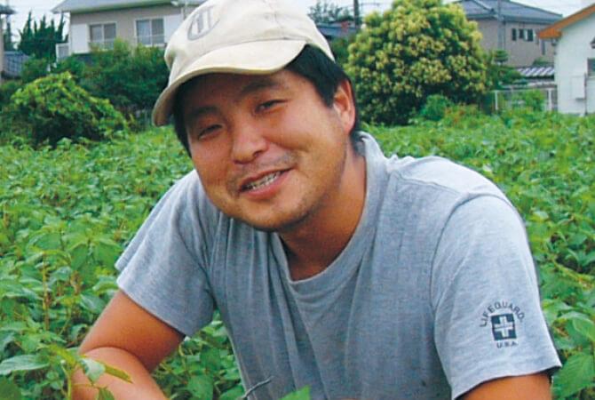 春菊の生産者、茨城県つくば市 つくば中根グループ 中根 剛さん