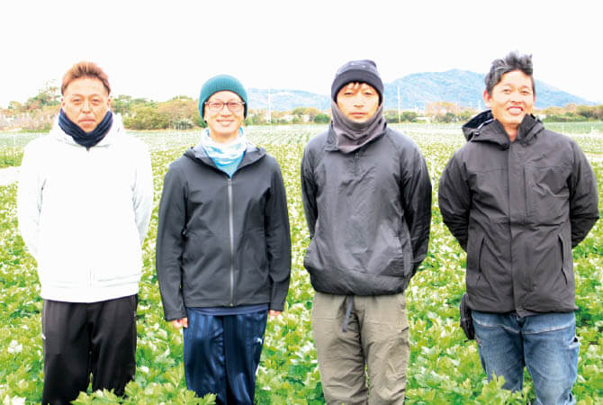 グリーンセロリ生産者、愛知県田原市 天恵グループの皆さん