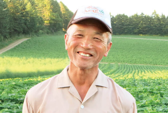 北海道のじゃがいも生産者、北海道美瑛町 早坂清彦さん
