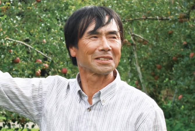 ふじ(りんご)生産者、山形県高畠市 おきたま興農舎 尾箸庄造さん