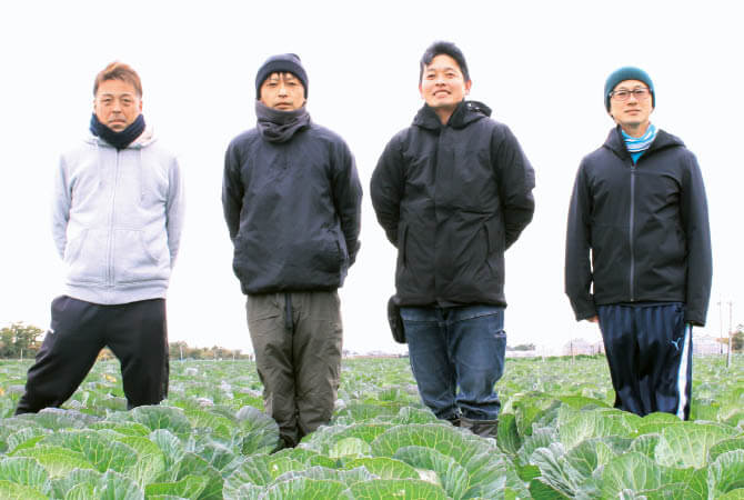 キャベツ生産者、愛知県田原市 天恵グループの皆さん