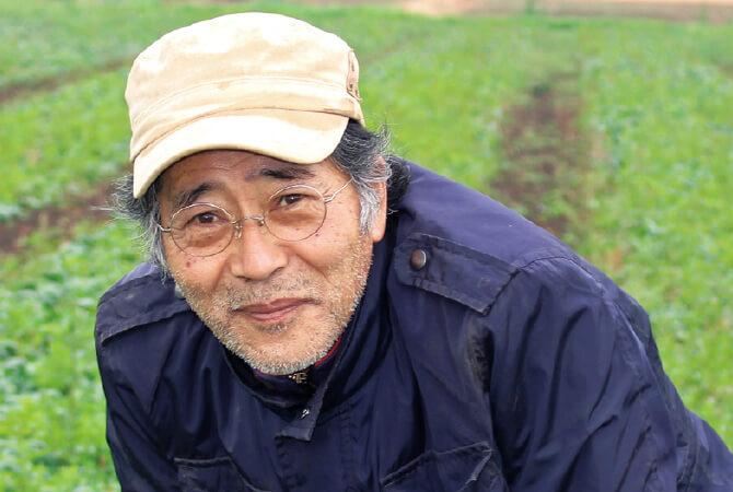 寒ちぢみほうれんそう生産者、茨城県つくば市 オーガニックファームつくばの風 山本稔さん