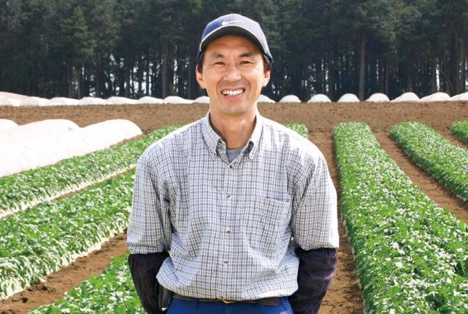 人参 生産者、千葉県山武市 さんぶ野菜ネットワーク 富谷 亜喜博さん