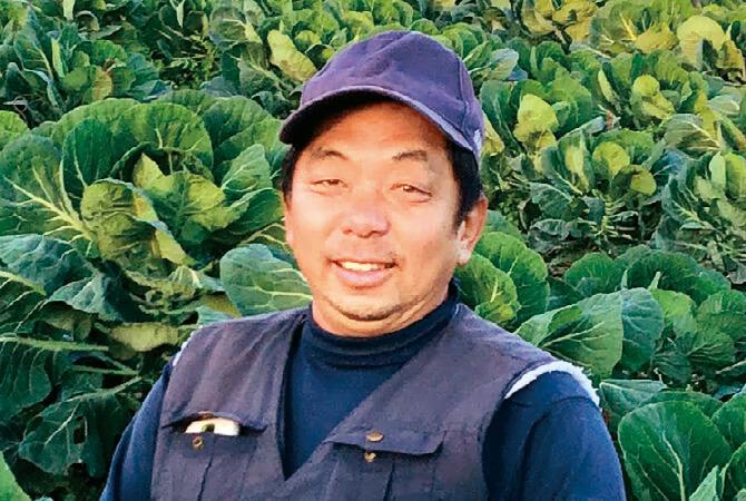芽キャベツ生産者、静岡県菊川市 野菜くらぶ 雲母悟章さん