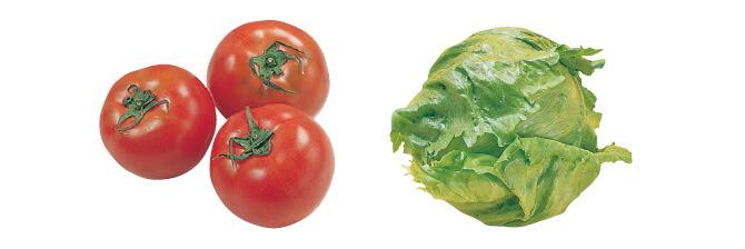トマト・400g&レタス・1コ