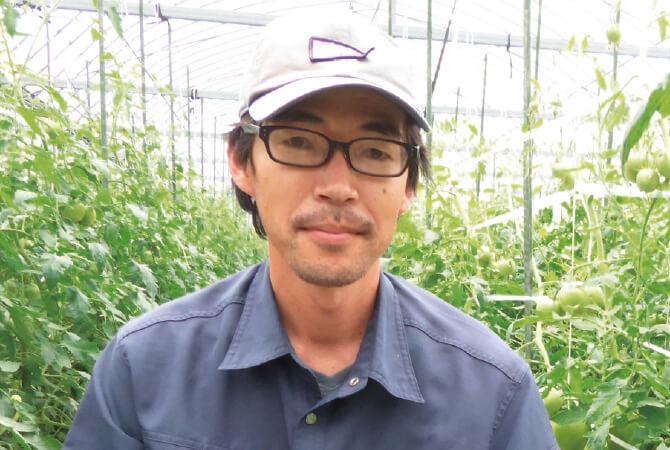 トマト生産者、長崎県南島原市 長崎有機農業研究会 柘植泰史さん