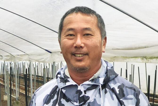 グリーンアスパラガス生産者、熊本県氷川町 熊本セーフティベジフル 山口隆博さ
