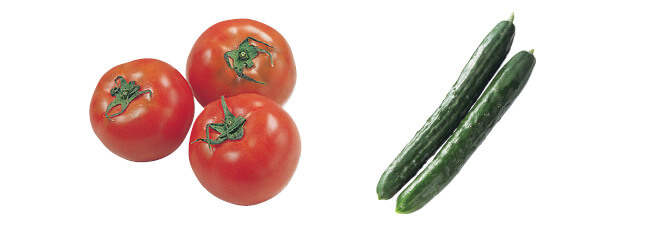 トマト・400g&きゅうり・180g