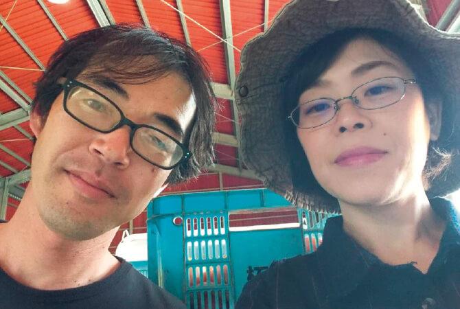 トマト生産者、長崎県南島原市 長崎有機農業研究会 柘植 泰史さんと美里さん
