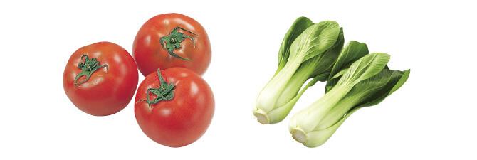 水切り栽培のうま夏トマト・400g&チンゲンサイ・200g