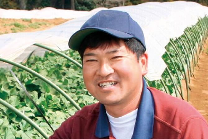 ズッキーニ生産者、千葉県山武市さんぶ野菜ネットワーク吉田邦雄さん