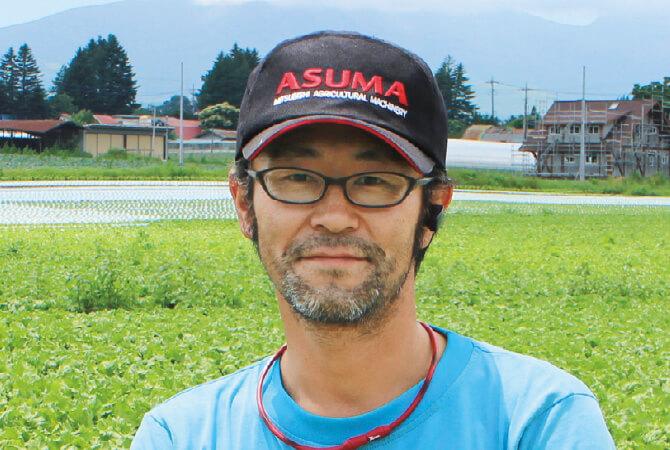レタス生産者、群馬県長野原町 北軽井沢有機ファミリー 清水明俊さん