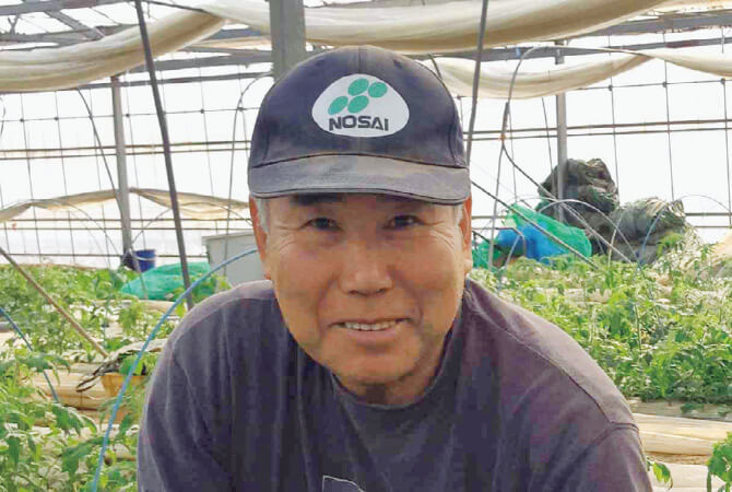 トマト生産者、福島県玉川村 福島わかば会 高林邦男さん