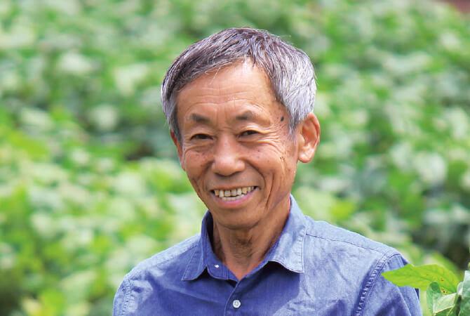 枝豆生産者、埼玉県志木市 三枝晃男さん