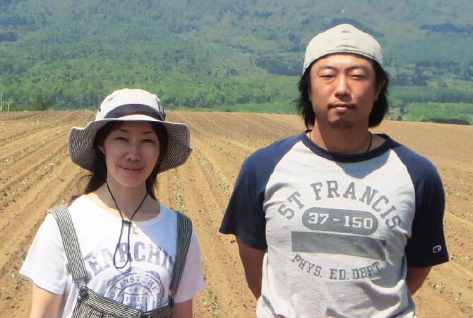 ブロッコリー生産者、北海道真狩村 ベジタブルワークス 佐々木伸さん・千亜希さん