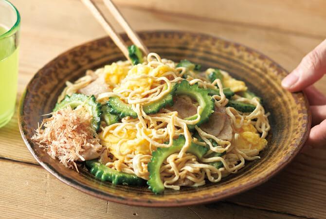 ゴーヤチャンプルー麺