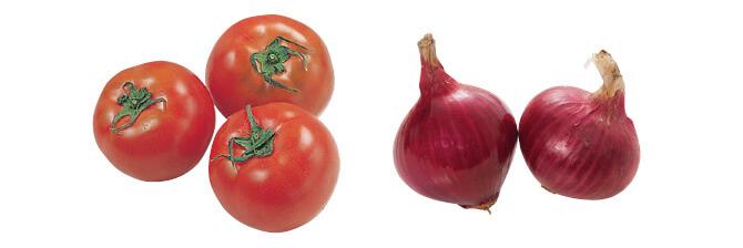 トマト・400g&赤玉ねぎ・500g