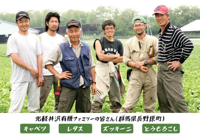 キャベツ、レタス、ズッキーニ、とうもろこし の生産者 北軽井沢有機ファミリーの皆さん(群馬県長野原町)