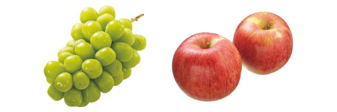 シャインマスカット(種なしぶどう)・400g&つがる(早生りんご)・450g
