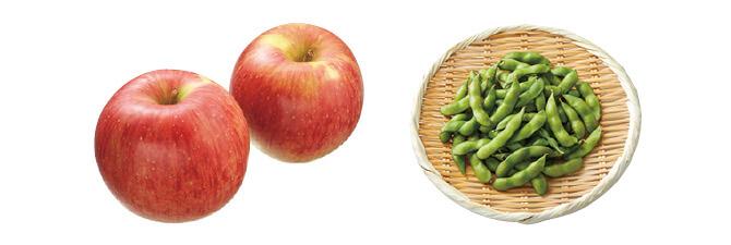 つがる(早生りんご)・450g&枝豆・200g